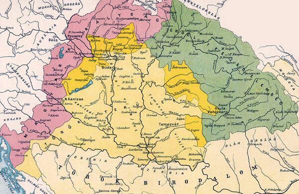 Mapa Rakúsko-Uhorska - Fakty výskumu predkov evanjelického vyznania